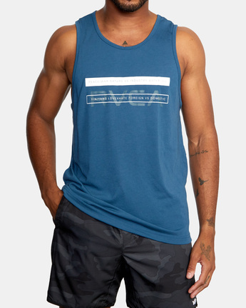 2 Two Bar Tank Top Blue AVYZT00525 RVCA