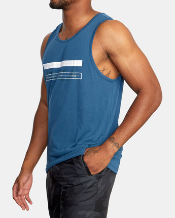 4 Two Bar Tank Top Blue AVYZT00525 RVCA