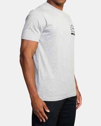 5 RVCA PE Short Sleeve Tee Grey AVYZT00528 RVCA