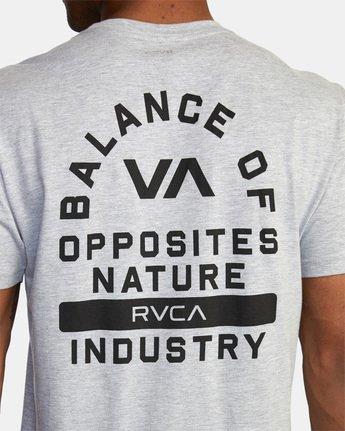7 RVCA PE Short Sleeve Tee Grey AVYZT00528 RVCA