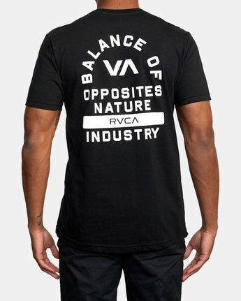 3 RVCA PE Short Sleeve Tee Black AVYZT00528 RVCA