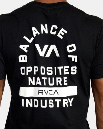 8 RVCA PE Short Sleeve Tee Black AVYZT00528 RVCA
