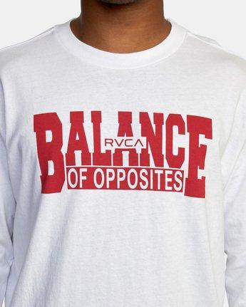 3 RVCA Balance Block Long Sleeve Tee White AVYZT00529 RVCA