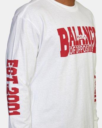 7 RVCA Balance Block Long Sleeve Tee White AVYZT00529 RVCA
