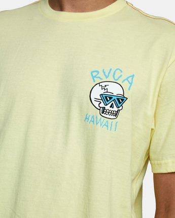 5 Skull Bow Short Sleeve Tee Yellow AVYZT00539 RVCA