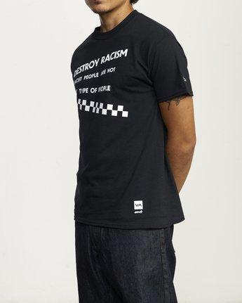 3 DESTROY RACISM TEE Black AVYZT00547 RVCA