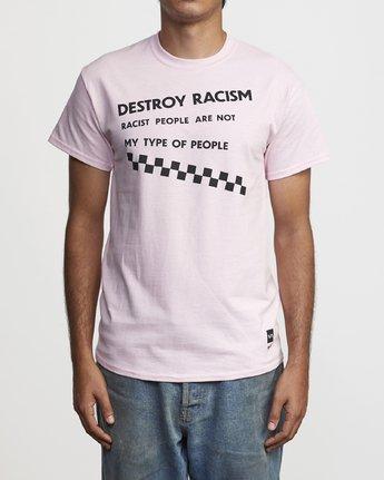1 DESTROY RACISM TEE  AVYZT00547 RVCA