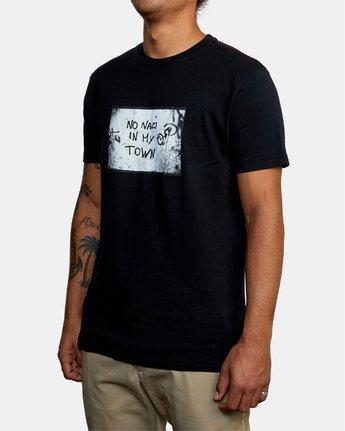 1 MY TOWN  X DEANNA TEMPLETON SHORT SLEEVE TEE Black AVYZT00687 RVCA