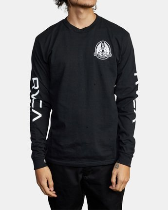 2 Gary Turner Long Sleeve T-Shirt Black AVYZT00693 RVCA