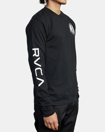 6 Gary Turner Long Sleeve T-Shirt Black AVYZT00693 RVCA