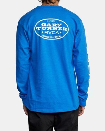 3 Gary Turner Long Sleeve T-Shirt Blue AVYZT00693 RVCA