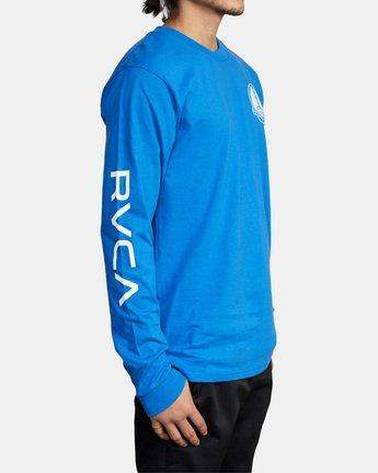 6 Gary Turner Long Sleeve T-Shirt Blue AVYZT00693 RVCA
