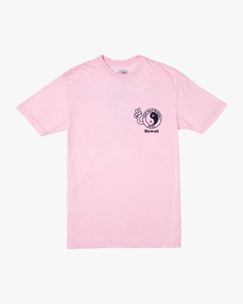 0 T&C Dude Short Sleeve T-Shirt Pink AVYZT00696 RVCA