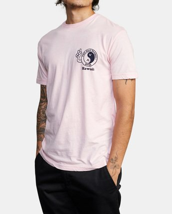 6 T&C Dude Short Sleeve T-Shirt Pink AVYZT00696 RVCA