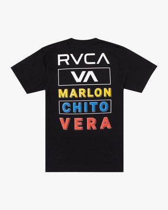 """1 Marlon """"Chito"""" Vera Fight Tee Black AVYZT00722 RVCA"""