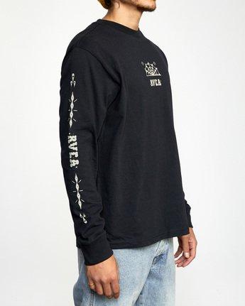3 Jesse Brown Long Sleeve T-Shirt Black AVYZT00767 RVCA