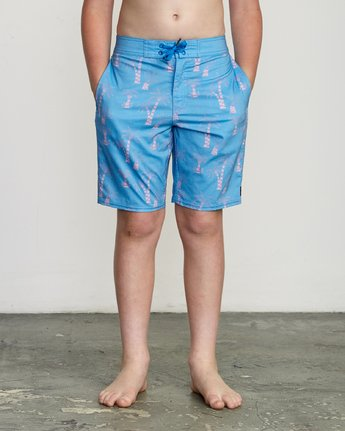 "1 Boy's KLW Palms 17"" Trunk Blue B101URKP RVCA"
