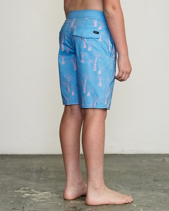 "5 Boy's KLW Palms 17"" Trunk Blue B101URKP RVCA"