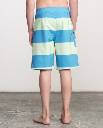 4 Boy's Uncivil Stripe Trunk Blue B103NRUN RVCA