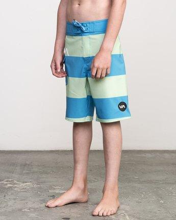 2 Boy's Uncivil Stripe Trunk Blue B103NRUN RVCA