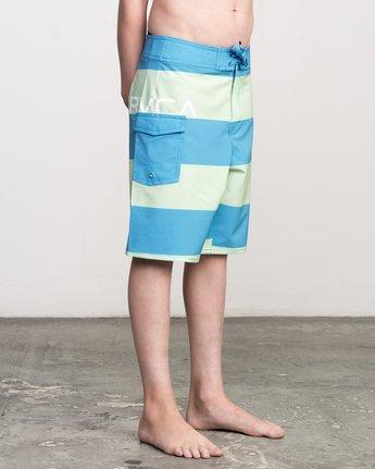6 Boy's Uncivil Stripe Trunk Blue B103NRUN RVCA