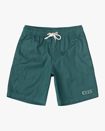 "0 Boy's Tom Gerrard Elastic 16"" Trunk Green B103URGE RVCA"