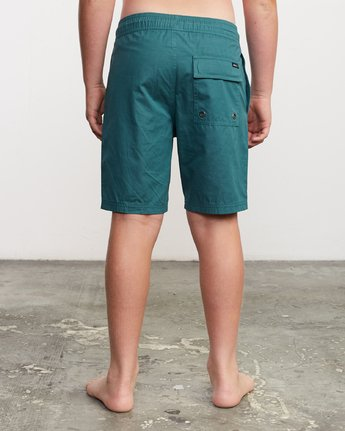"4 Boy's Tom Gerrard Elastic 16"" Trunk Green B103URGE RVCA"
