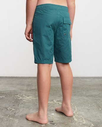 "3 Boy's Tom Gerrard Elastic 16"" Trunk Green B103URGE RVCA"