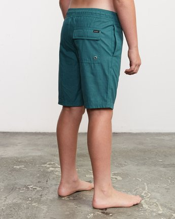 "5 Boy's Tom Gerrard Elastic 16"" Trunk Green B103URGE RVCA"