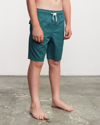 "6 Boy's Tom Gerrard Elastic 16"" Trunk Green B103URGE RVCA"