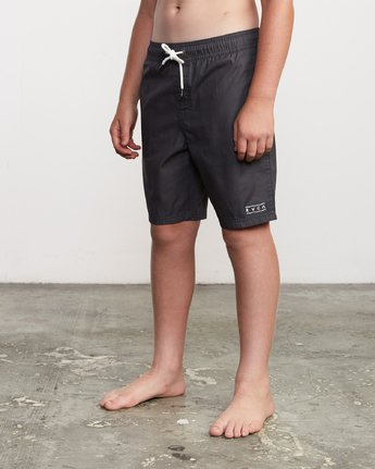 "2 Boy's Tom Gerrard Elastic 16"" Trunk Black B103URGE RVCA"