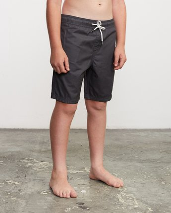 "6 Boy's Tom Gerrard Elastic 16"" Trunk Black B103URGE RVCA"