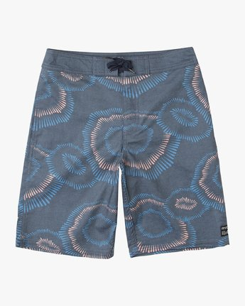 "0 Boy's Whitehead Flicker 17"" Trunk Blue B103URTF RVCA"