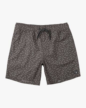 "0 Boy's Program Elastic 16"" Trunk Black B117URPE RVCA"
