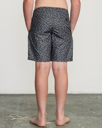 "4 Boy's Program Elastic 16"" Trunk Black B117URPE RVCA"