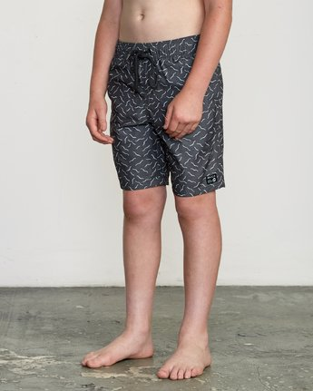"2 Boy's Program Elastic 16"" Trunk Black B117URPE RVCA"