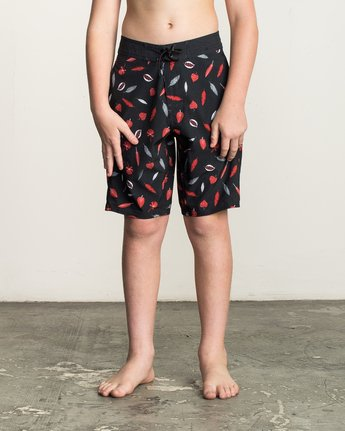 1 Boy's Tom Gerrard Leaves Trunk Black B145TRGE RVCA