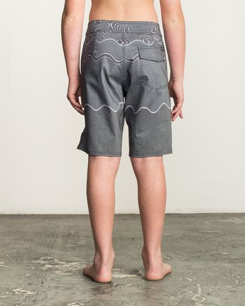 4 Boy's Pulled Lines Trunk  B149TRPU RVCA