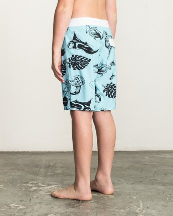 3 Boy's VA Printed Trunk Blue B155TRVA RVCA