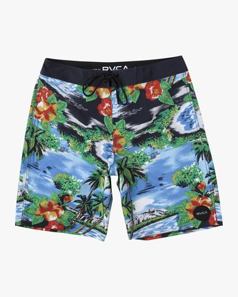 "0 BOYS VA BOARDSHORT 16"" Grey B1561RVA RVCA"