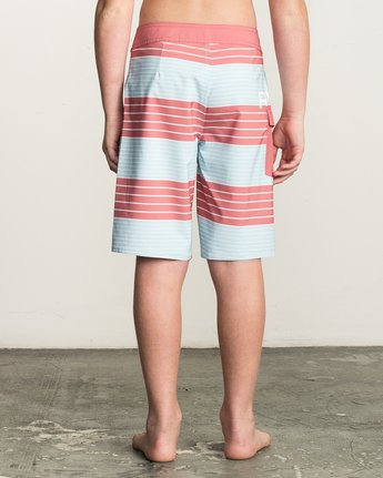 4 Boy's Uncivil Stripe Trunk Brown B162TRUN RVCA