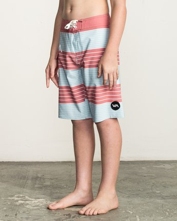 2 Boy's Uncivil Stripe Trunk Brown B162TRUN RVCA