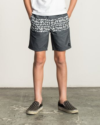 1 Boy's Shattered Elastic Trunk Black B169TRSH RVCA