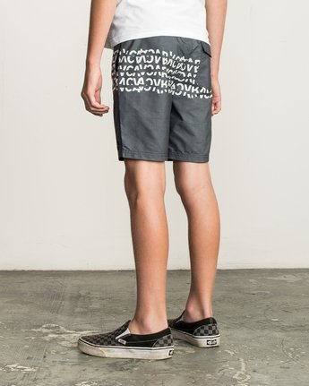 3 Boy's Shattered Elastic Trunk Black B169TRSH RVCA