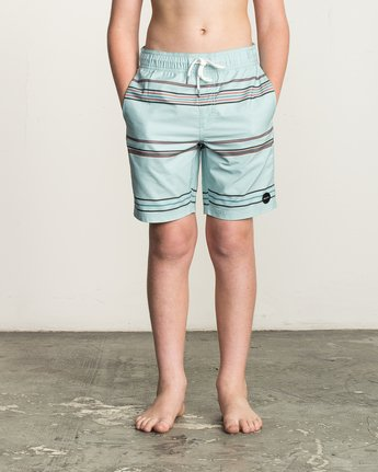 1 Boy's Shattered Elastic Trunk Blue B169TRSH RVCA