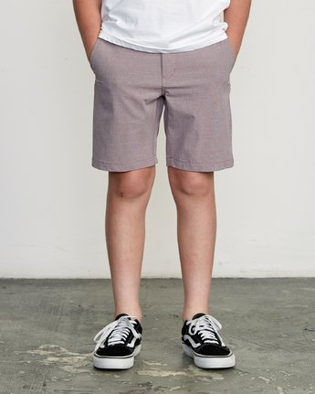 1 Boy's Balance Hybrid Short Purple B201NRBH RVCA