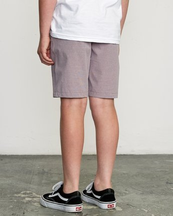 3 Boy's Balance Hybrid Short Purple B201NRBH RVCA
