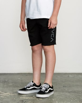 2 Boy's Ripper Fleece Sweatshort Black B201URRI RVCA
