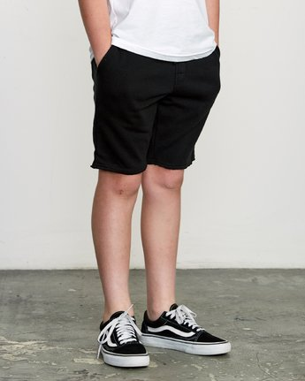 6 Boy's Ripper Fleece Sweatshort Black B201URRI RVCA