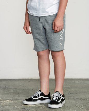 2 Boy's Ripper Fleece Sweatshort Grey B201URRI RVCA